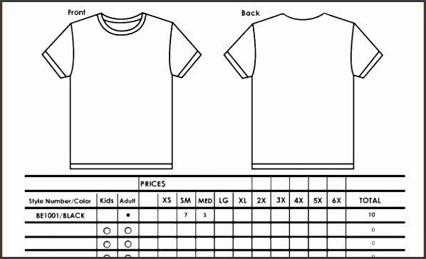 Shirt order forms Template Lovely 9 T Shirt order form Template Excel Sampletemplatess