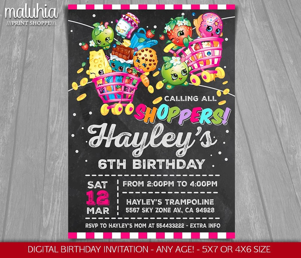 Shopkins Invitations Template Free Beautiful Shopkins Birthday Party Products