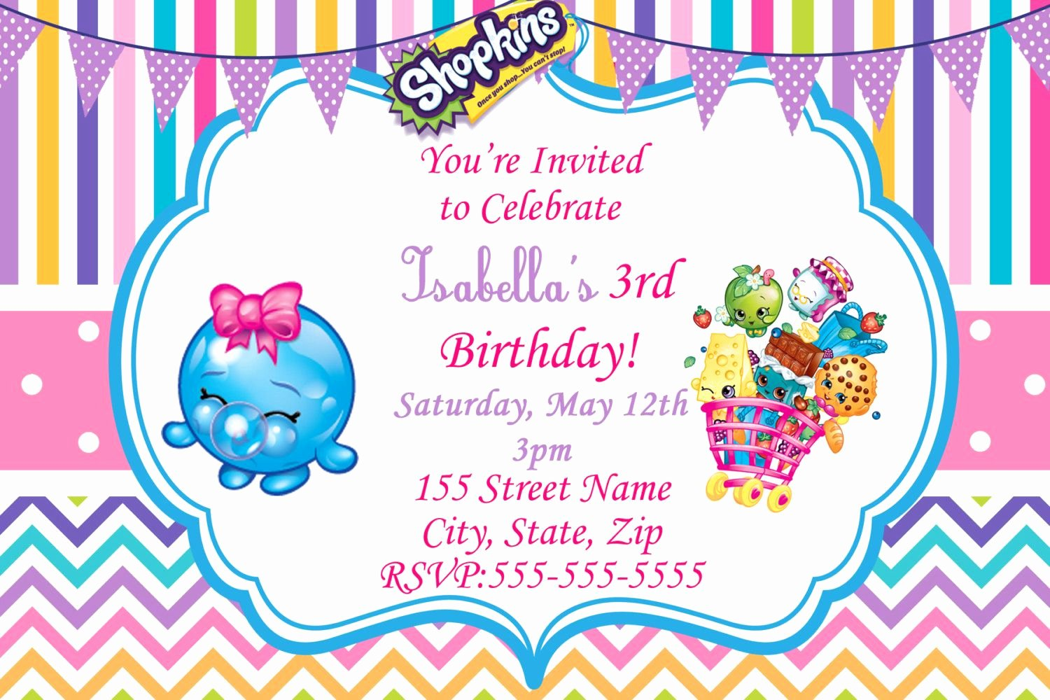 Shopkins Invitations Template Free Beautiful Shopkins Invitations Free Google Search