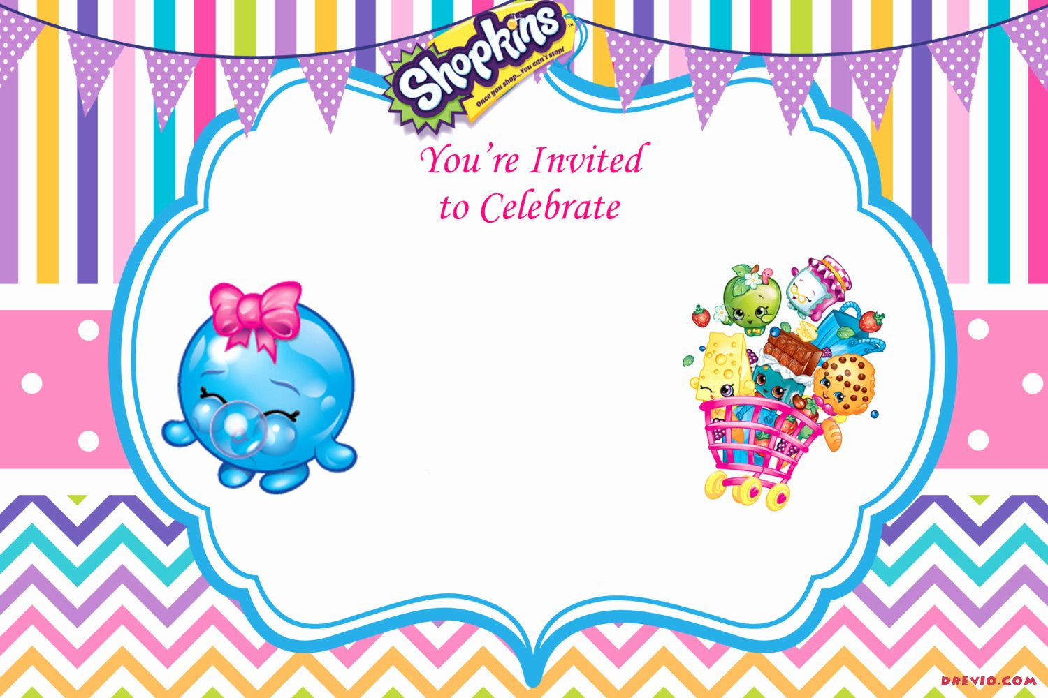 Shopkins Invitations Template Free Beautiful Updated – Free Printable Shopkins Birthday Invitation