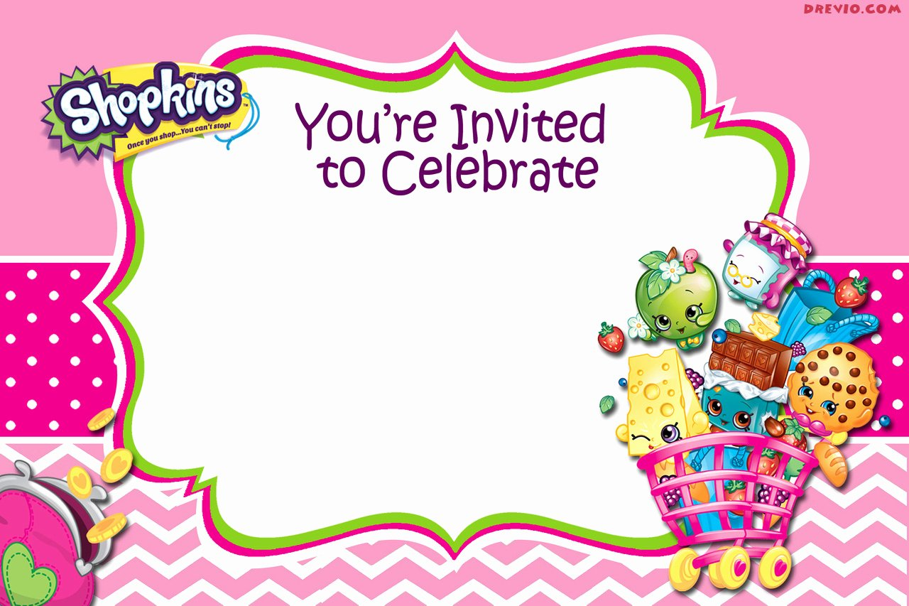 Shopkins Invitations Template Free Best Of Calling All Shoppers Here are Free Blank Shopkins