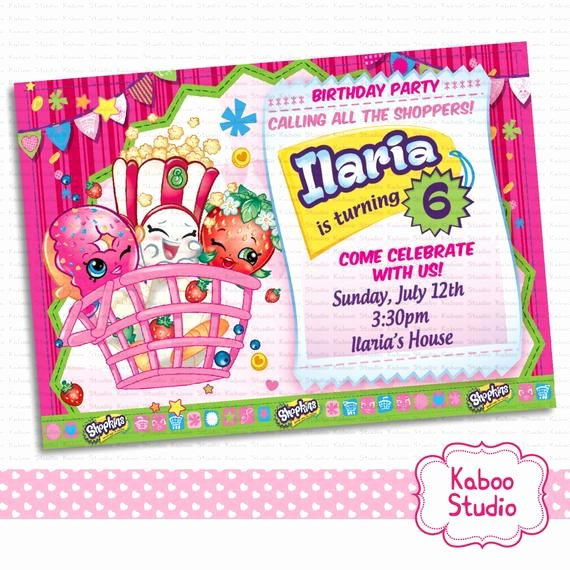 Shopkins Invitations Template Free Best Of You Print Shopkins Digital Birthday Party by