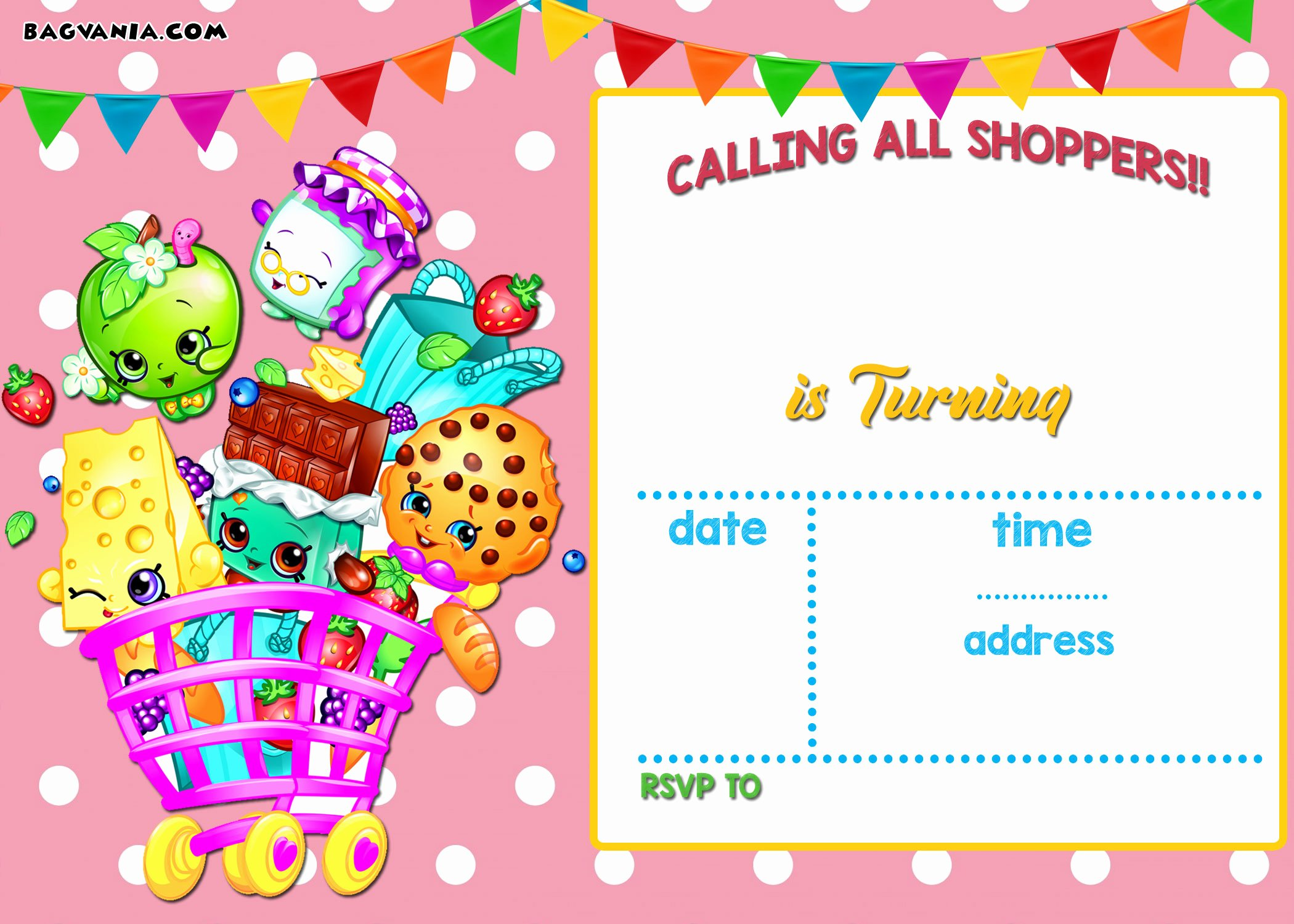 Shopkins Invitations Template Free Fresh Calling All Shoppers Here are Free Blank Shopkins