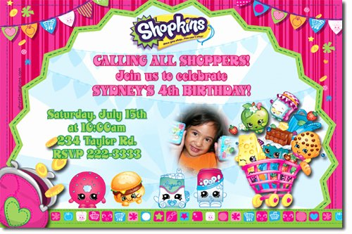 Shopkins Invitations Template Free Fresh Shopkins Birthday Invitations Candy Wrappers Thank You