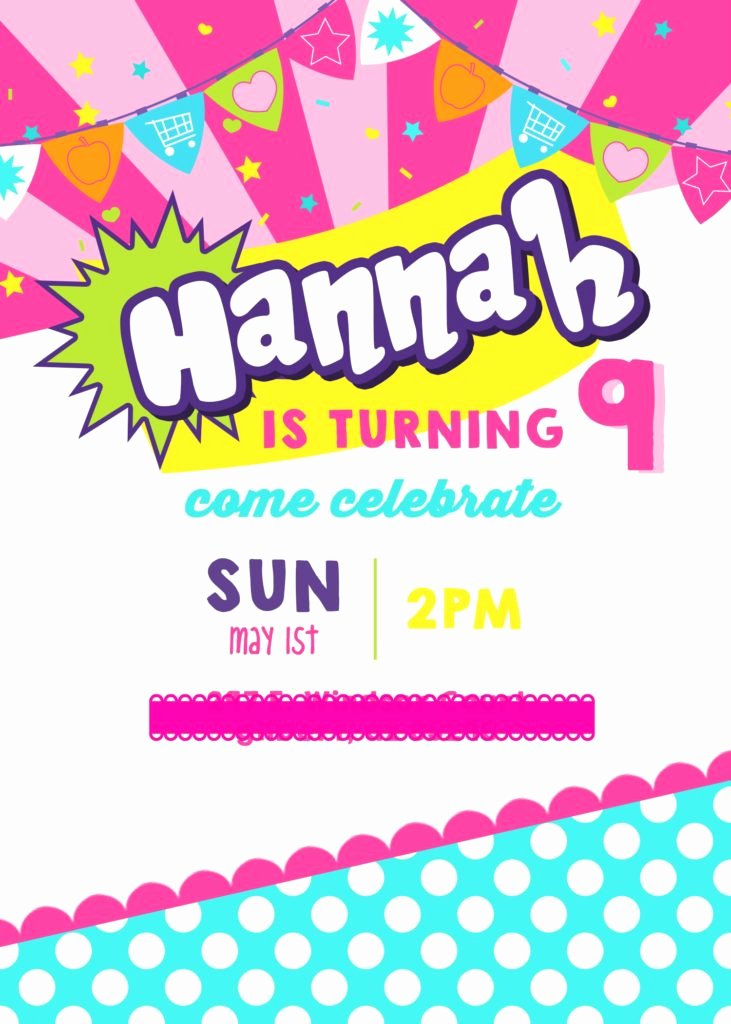 Shopkins Invitations Template Free Fresh Shopkins Birthday Party – Style with Nancy