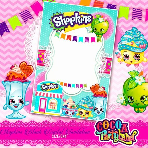 Shopkins Invitations Template Free Inspirational 17 Best Images About Shopkins On Pinterest