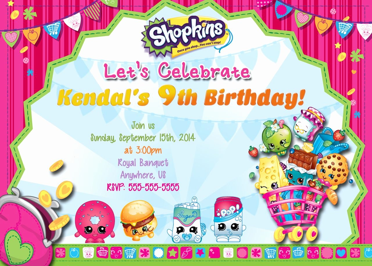 Shopkins Invitations Template Free Lovely Shopkins Party On Pinterest