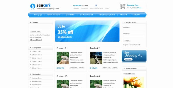 Shopping Cart HTML Template Awesome Sancart HTML Shopping Cart Template by Settysantu