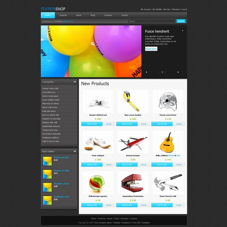 Shopping Cart HTML Template Best Of 15 Best Free E Merce HTML Templates Images On Pinterest
