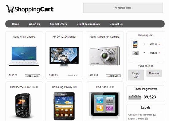 Shopping Cart HTML Template Fresh Cara Membuat toko Line Dengan Contoh Blog
