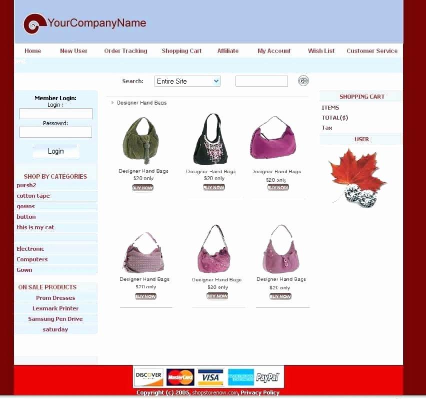 Shopping Cart HTML Template Inspirational Free HTML Shopping Cart Template Shopping Cart Template