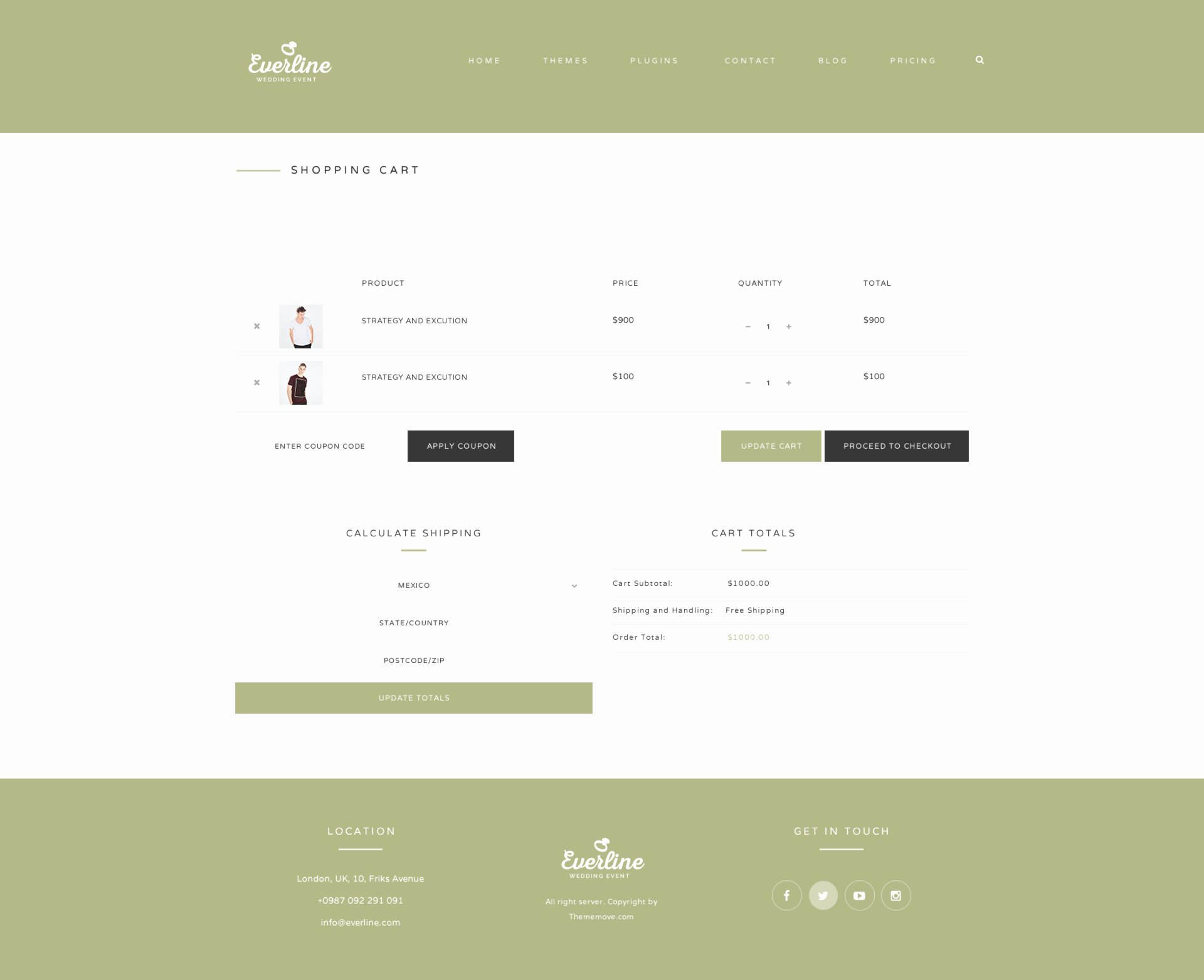 Shopping Cart HTML Template Luxury Everline Wedding events HTML Template by Plazart