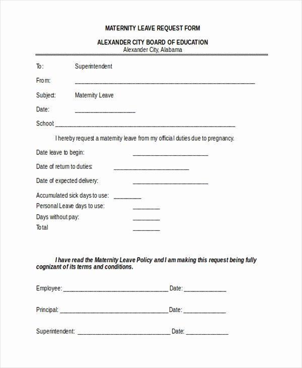 Sick Leave form Template Awesome Sample Leave Request form 10 Free Documents In Doc Pdf