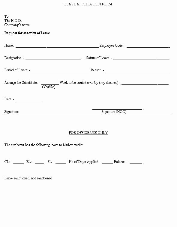 Sick Leave form Template Elegant Employee Sick Leave form Template Free Templates south Africa