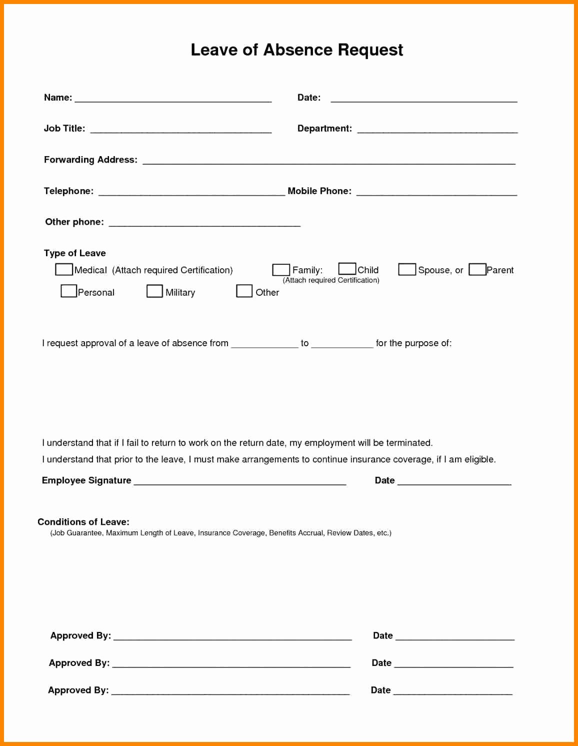Sick Leave form Template Elegant Employee Sick Leave form Template – Radiofama