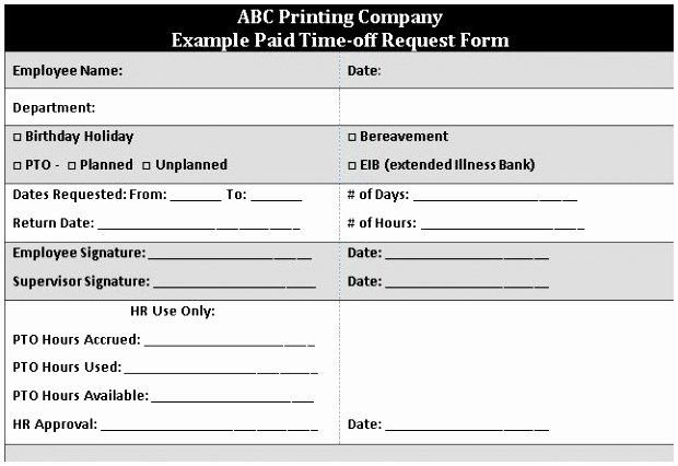 Sick Leave form Template Inspirational 9 Sick form Template Aawry