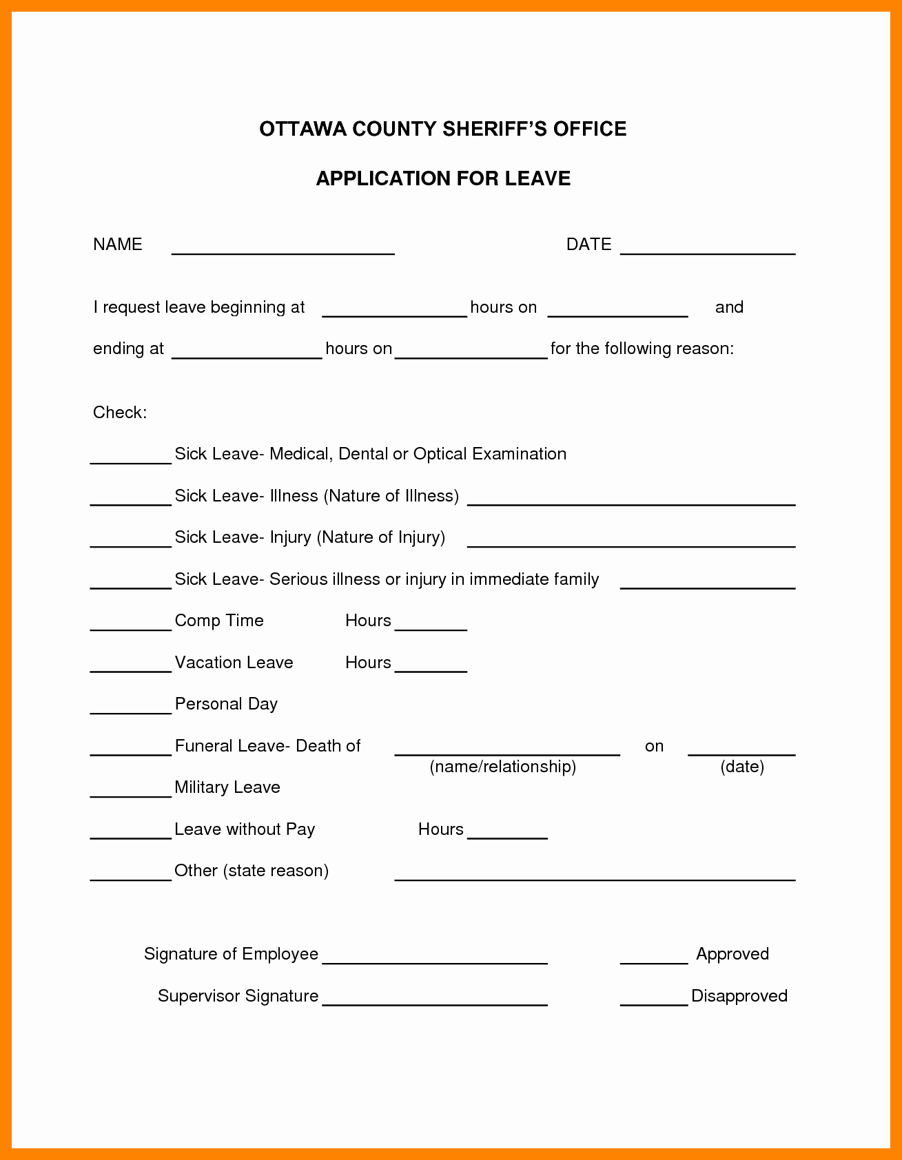 Sick Leave form Template Inspirational Sick Sheet Sample and 7 Sick Leave forms Template Janitor