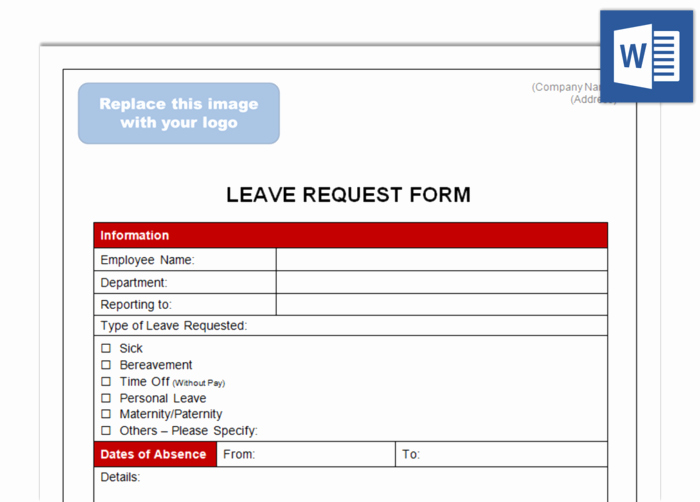 Sick Leave form Template New Leave Request form Future Ceos