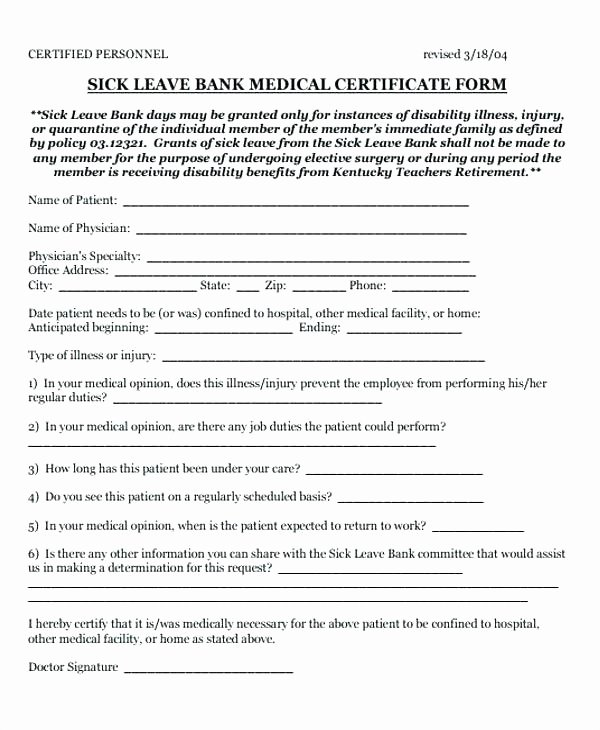 Sick Leave form Template Unique Employee Sick Leave form Template Free Templates south Africa