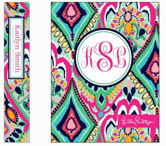 Side Of Binder Template Awesome Items Similar to Monogram Binder Insert Lilly Patterns