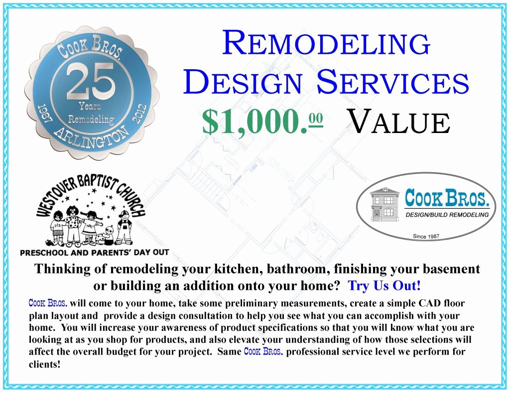 Silent Auction Certificate Template Beautiful Cook Bros 1 Design Build Remodeling Contractor In