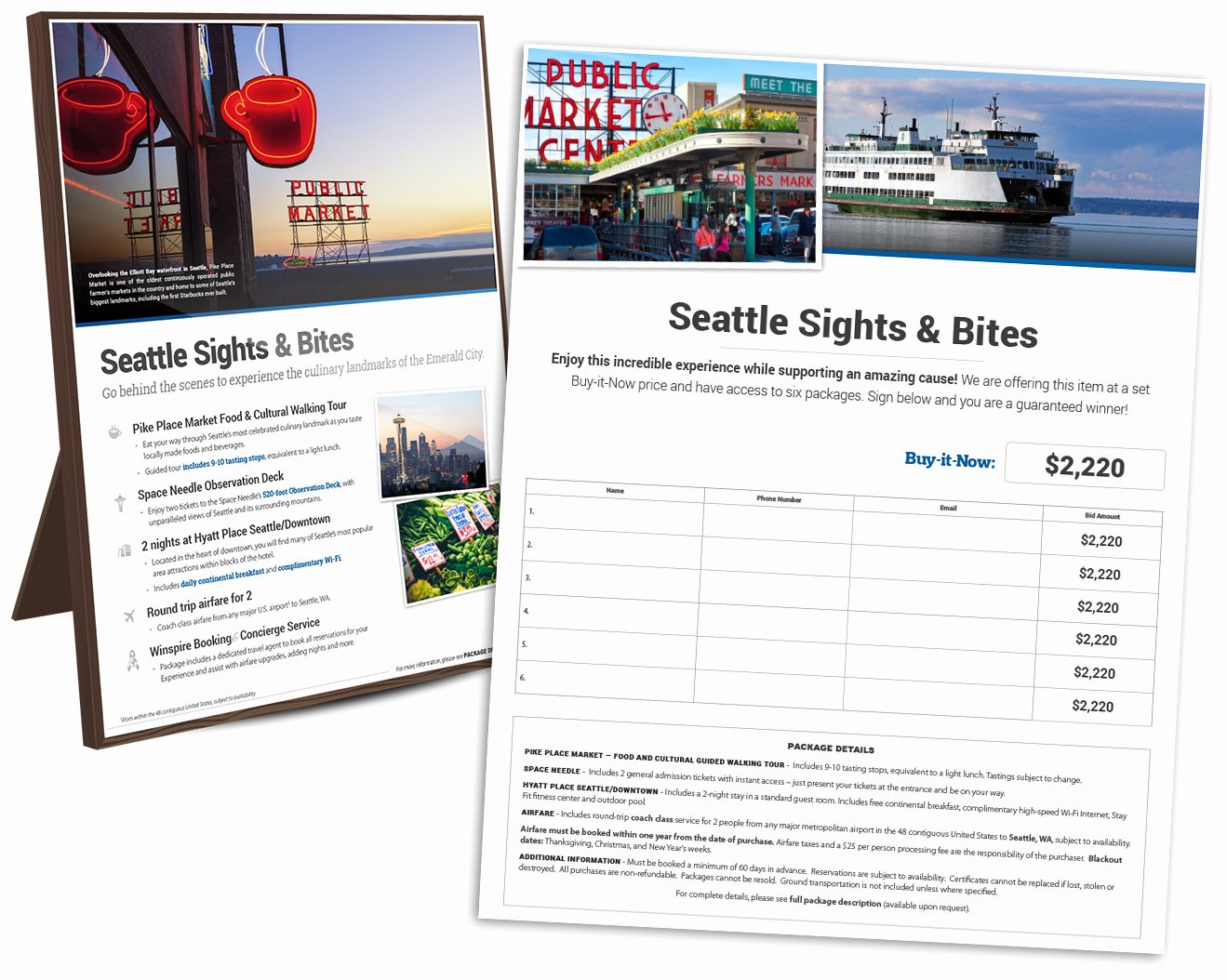 Silent Auction Display Template Luxury Introducing the New Winspire Silent Auction Travel Package