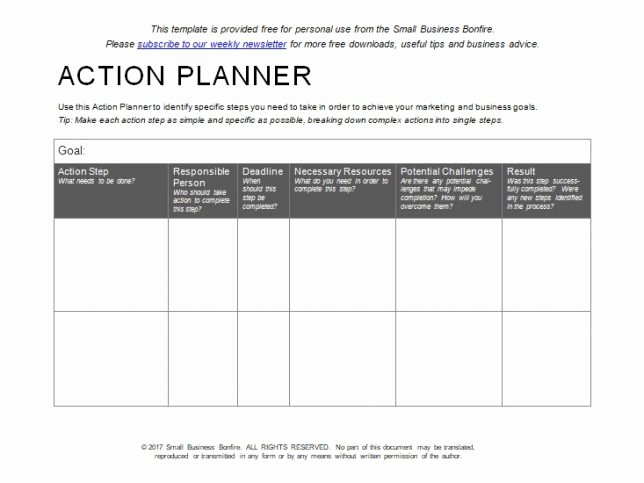 Simple Action Plan Template Best Of 10 Effective Action Plan Templates You Can Use now