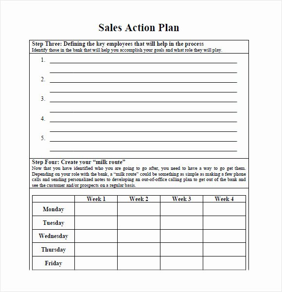 Simple Action Plan Template Best Of 10 Sales Plan Samples