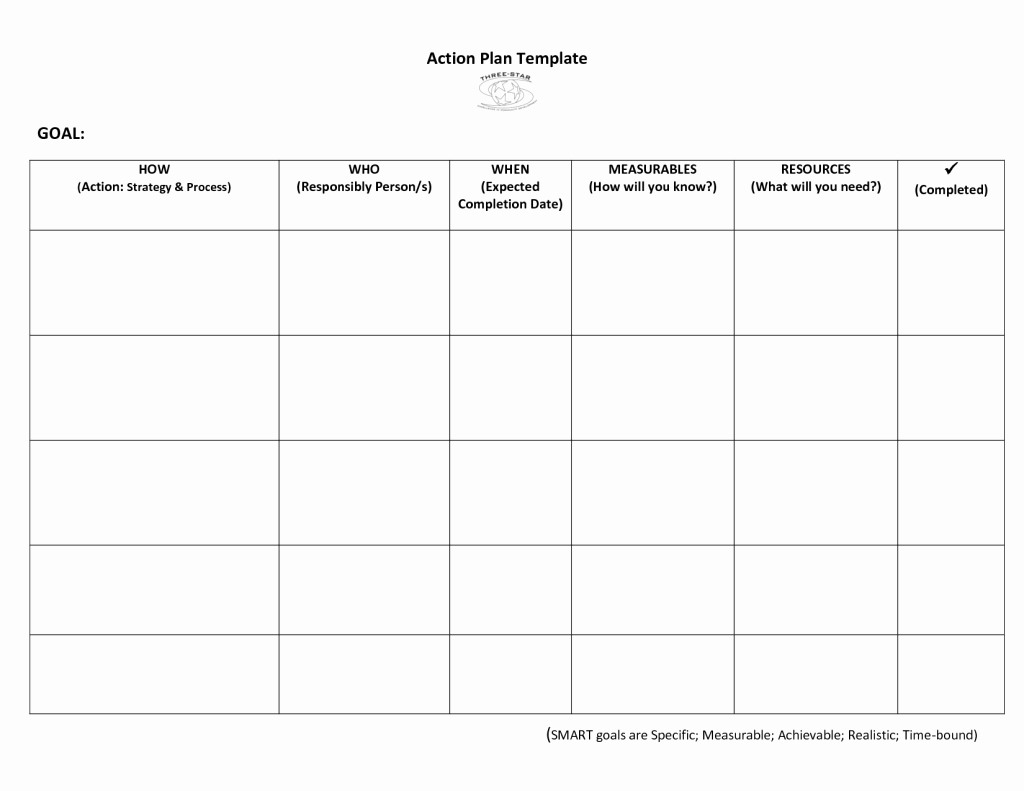 Simple Action Plan Template Best Of Very Simple Action Plan Template Word Example with Goal
