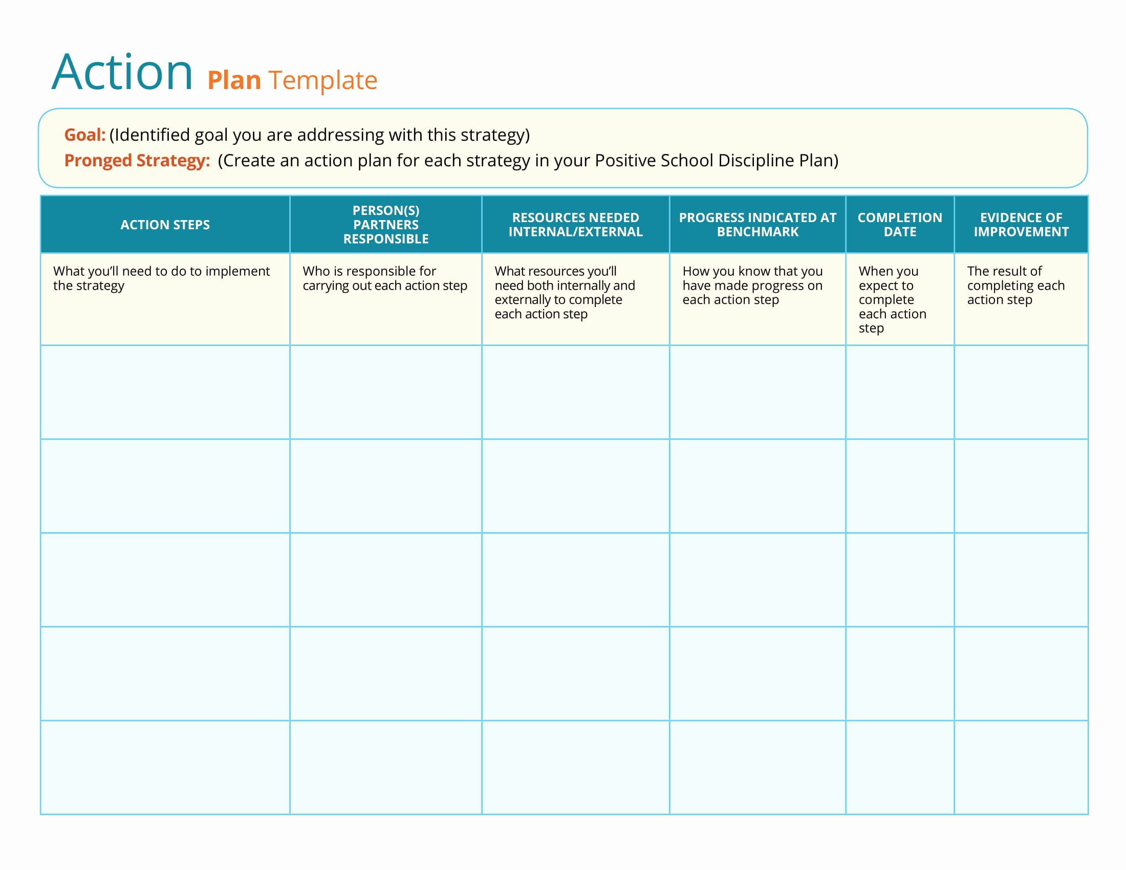 Simple Action Plan Template Elegant 11 Printable Strategic Action Plan Examples Pdf