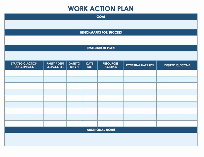 Simple Action Plan Template Lovely Free Action Plan Templates Smartsheet