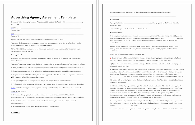 Simple Advertising Contract Template Lovely Business Contracts Archives Contract Templates