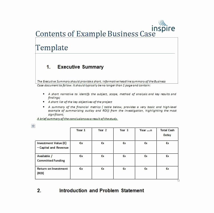 Simple Business Case Template New 30 Simple Business Case Templates & Examples Template Lab
