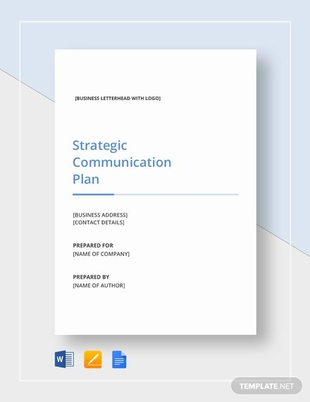 Simple Communication Plan Template Best Of Simple Strategic Munication Plan Template Download 328