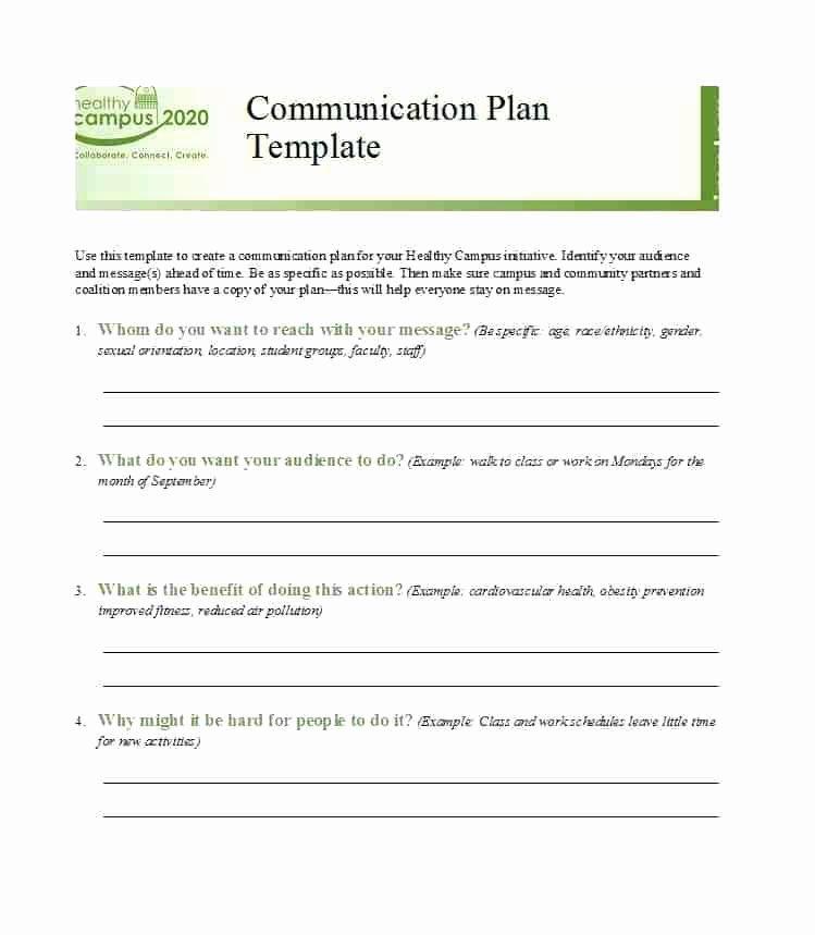 Simple Communication Plan Template Elegant Simple Munication Plan Template Simple Munications