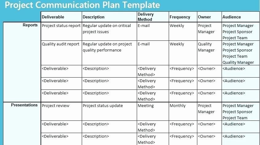 Simple Communication Plan Template Fresh Project Delivery Plan Template – Akronteachfo