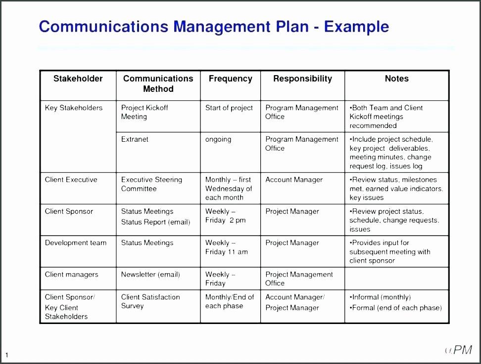 Simple Communication Plan Template Luxury Munication Management Plan Template Simple Examples