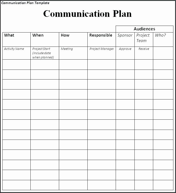 Simple Communication Plan Template Unique Project Team Munication Plan Template – Ksckfo