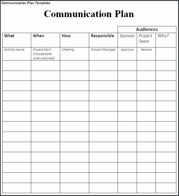 Simple Communication Plan Template Unique Project Team Munication Plan Template – Ksckfo