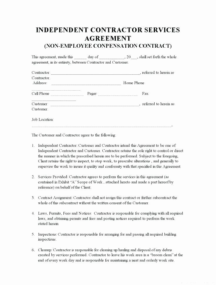 Simple Construction Contract Template Elegant Simple Construction Contract form – Emailers
