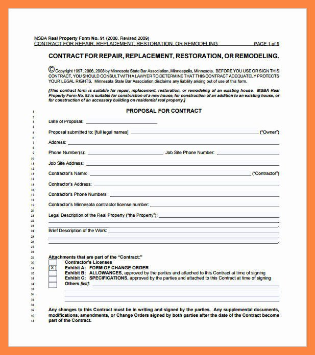Simple Construction Contract Template Fresh 6 Simple Construction Contract Pdf