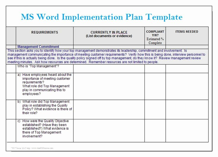 Simple Implementation Plan Template Luxury Ms Word Implementation Plan Template – Microsoft Word