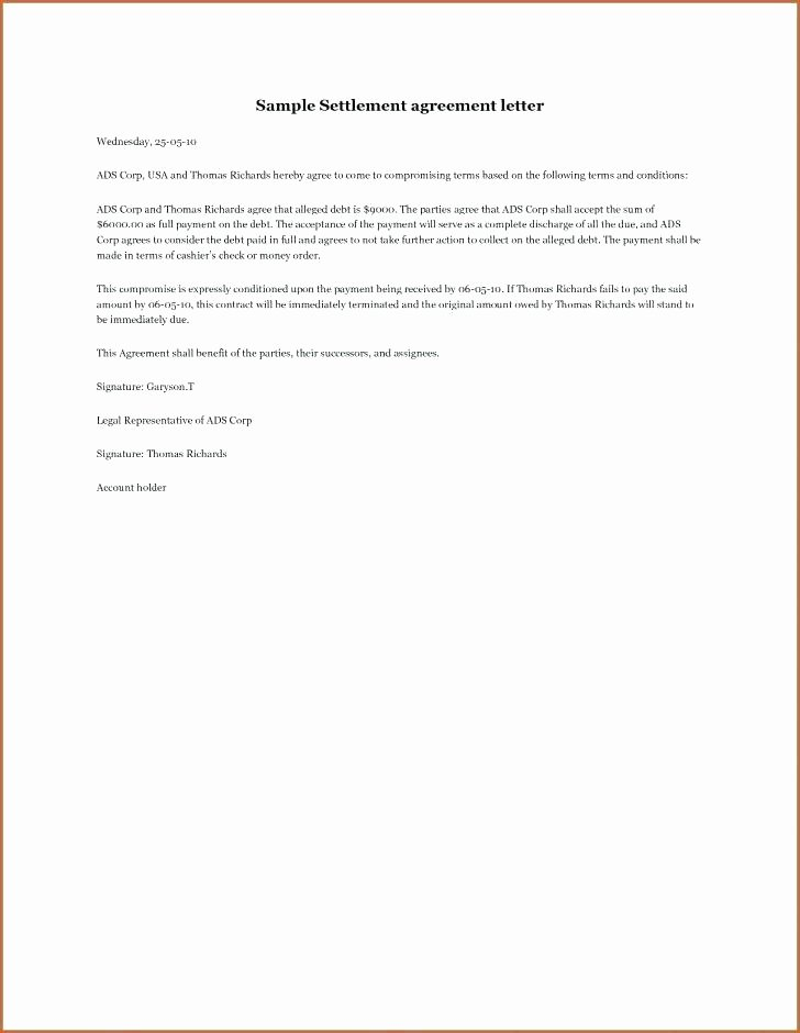 Simple Payment Agreement Template Awesome Simple Contract Agreement Between Two Parties Fresh