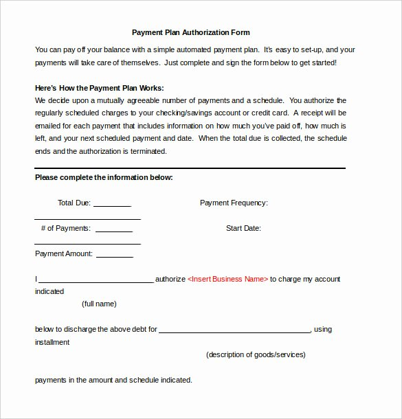 Simple Payment Agreement Template Fresh Payment Plan Agreement Template 12 Free Word Pdf