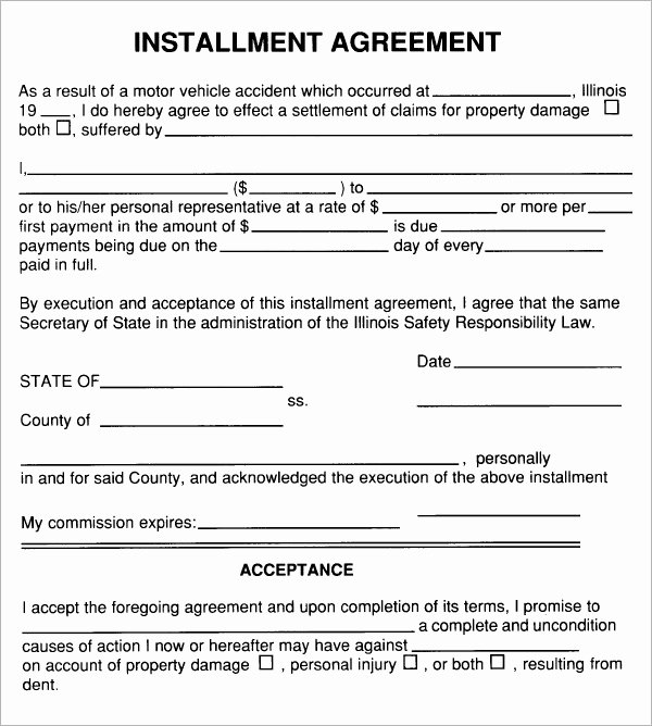 Simple Payment Agreement Template Inspirational Installment Agreement 5 Free Pdf Download