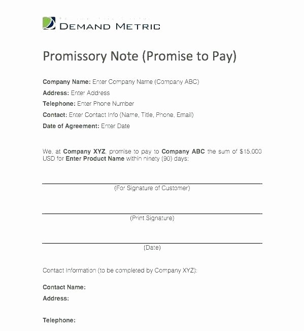 Simple Payment Agreement Template New Simple Payment Agreement Template Between Two Parties