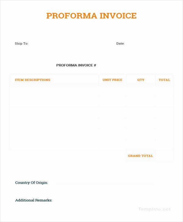 Simple Pro forma Template Best Of 12 Proforma Invoice Templates Pdf Doc Excel