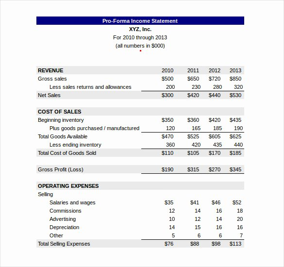 Simple Pro forma Template Unique Restaurant Profit and Loss Statement Excel Best Bud