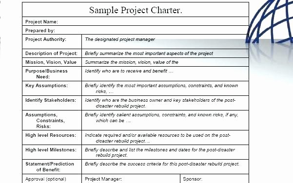 Simple Project Charter Template Beautiful Related for Project Charter Template Simple Pmp