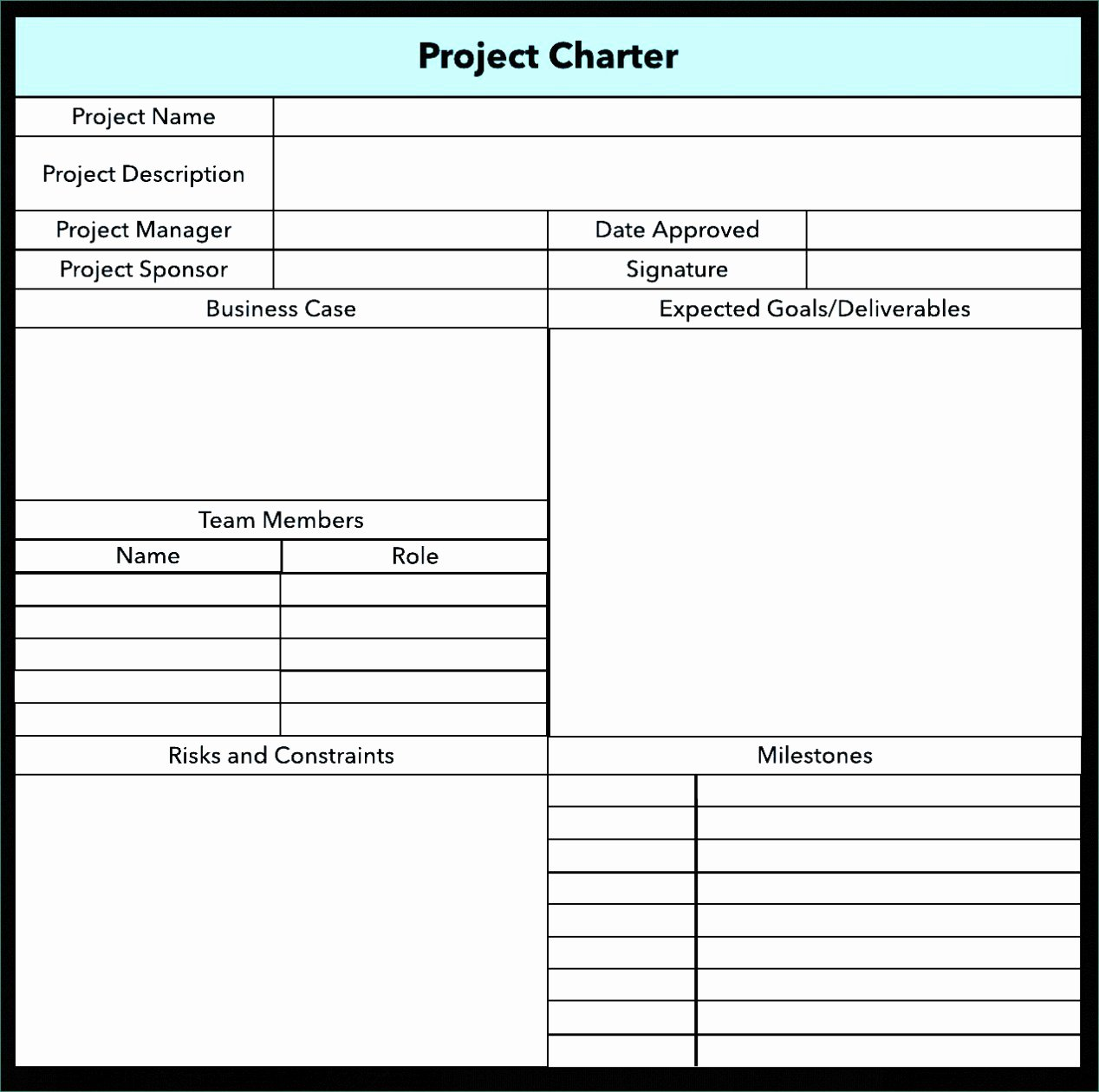 Simple Project Charter Template Unique Six Sigma Project Charter Template Ppt Simple Project